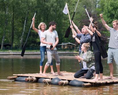 Flossbau Team Paddel Jubel