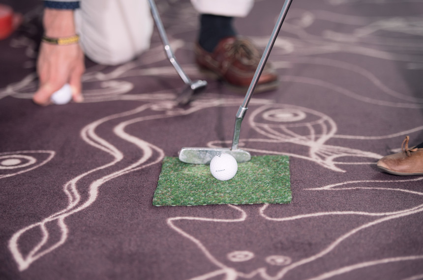 Golf Indoor Ball Schlaeger Teppich