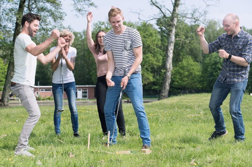 Golf Team Wiese Outdoor Jubel