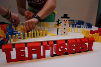 Xmas Domino-Lego-Challenge in Krefeld