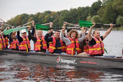 Drachenboot-Event in Krefeld