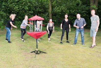 Discgolf Team Frisbee Ziel Korb