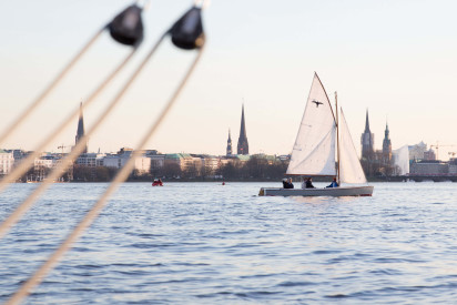 Champagne Sailing on the Alster Hamburg