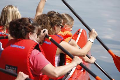 Raft-Teamexpedition in Essen