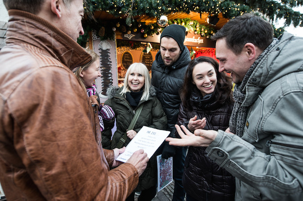 weihnachts city rallye gluewein-Leipzig