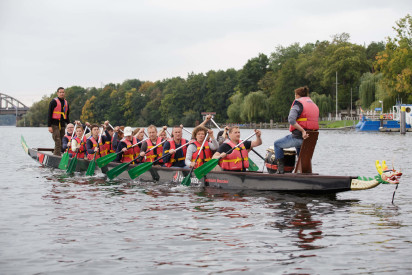 Drachenbootrennen als Team Event Bottrop