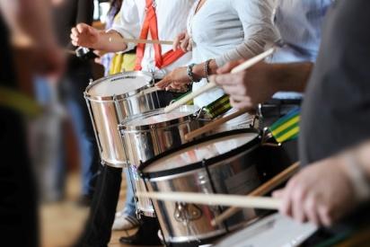 Drumming im Team-Frankfurt
