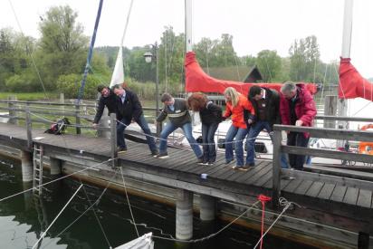 Mann im Boot-Erfurt