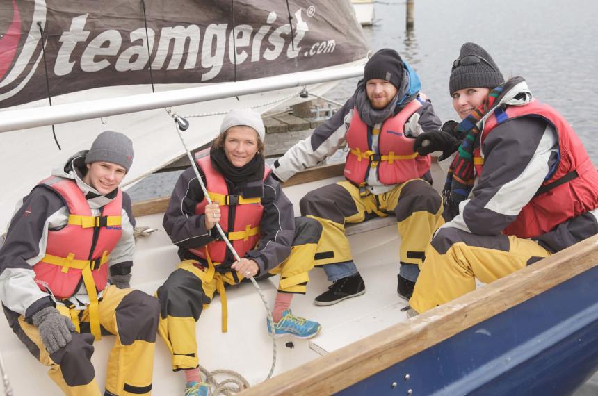 Segeln Winter Schwimmweste Segelkleidung Boot